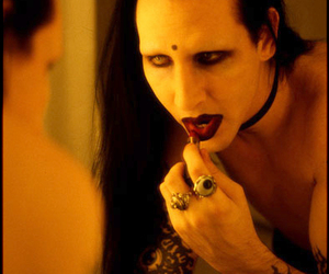 lipstick and Marilyn Manson image