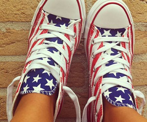 shoes, converse, and usa image