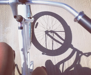 bike, shadow, and transport image