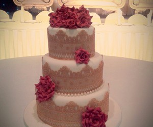 cake, elegant, and gold image