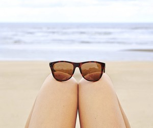 beach, sunglasses, and sand image