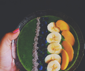 apple, banana, and blueberries image