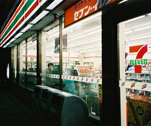 japan, night, and seven eleven image