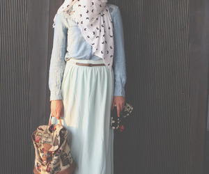 fashion, hijab, and maxi skirt image