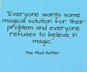 alice in wonderland, believe, and mad hatter image