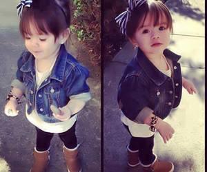 girl, fashion, and baby image