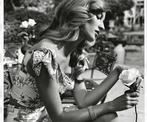 black and white, Gisele Bundchen, and pretty lady image