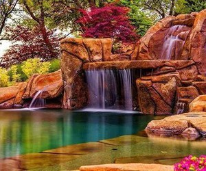 waterfall, place, and water image