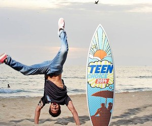 tyler posey, teen wolf, and beach image