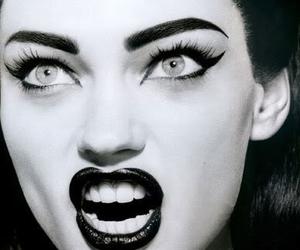 Sasha Pivovarova, model, and black and white image