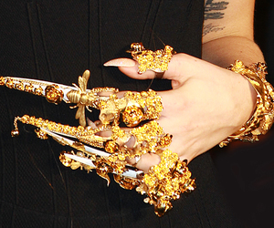 claw, Lady gaga, and gold image