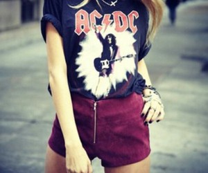 fashion, ACDC, and rock image