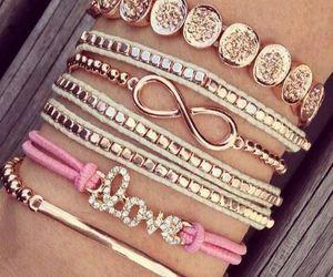 love, bracelet, and pink image