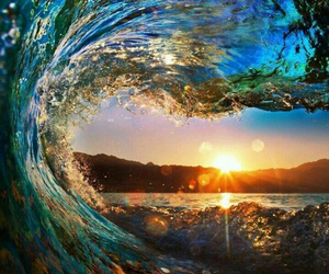 beach and wave image