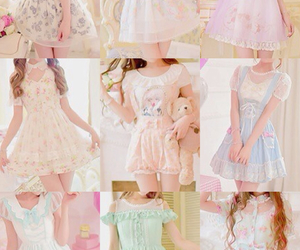 asian fashion, floral, and pastel image