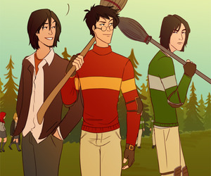 fan art, quidditch, and prongs image
