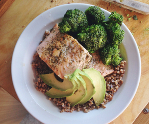 avocado, broccoli, and fit image