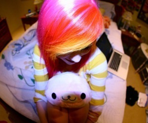 color hair, colorful hair, and photography image