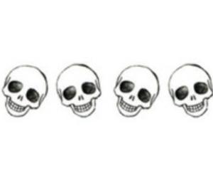 skull, overlay, and skeleton image