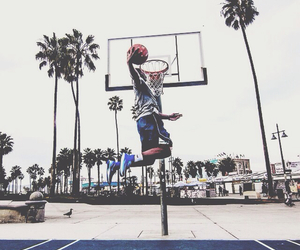 Basketball, court, and dunk image