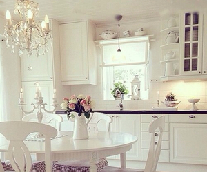 kitchen, flowers, and style image