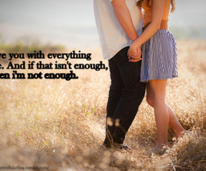 not enough, love, and typography image