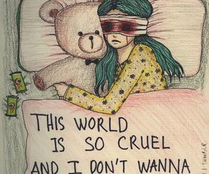sad, world, and cruel image