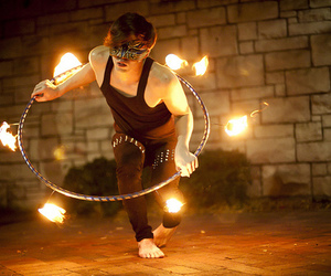 photography, fire, and mask image