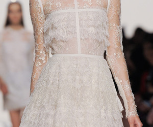 dress, girl, and haute couture image
