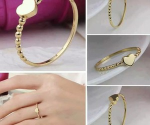 promise ring, gold ring, and beautiful ring image