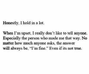 quotes, sad, and upset image