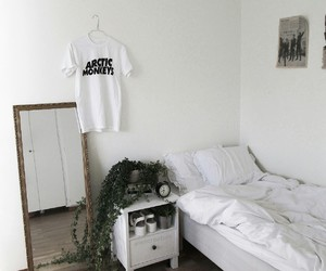 arctic monkeys, white, and room image