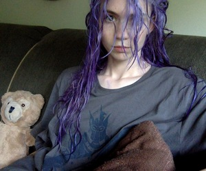 grimes, hair, and purple image