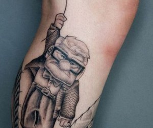 tattoo, up, and balloon image