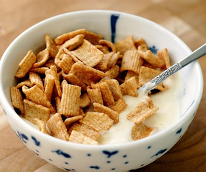 bowl, cereal, and milk image