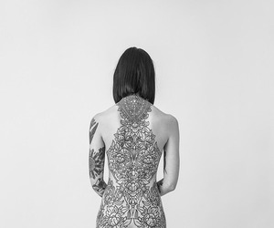 tattoo, hannah snowdon, and black image