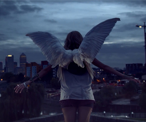 angel, give me love, and wings image