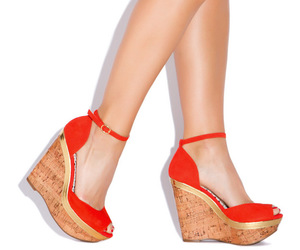 shoes, wedges, and wedge sandals image