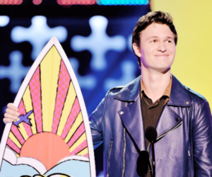 ansel elgort, tca, and tfios image