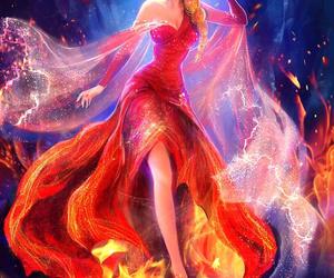 elsa, frozen, and fire image