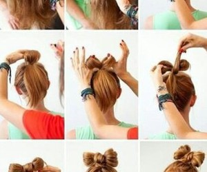 braid, bun, and girl image
