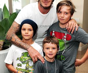 David Beckham and family image