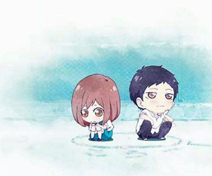 ao haru ride, anime, and chibi image