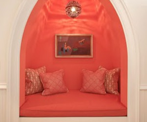 nook, cushions, and pink image