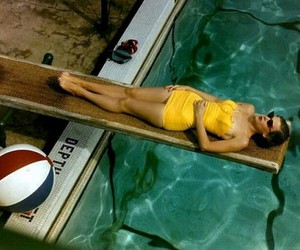 pool, 1950s, and water image