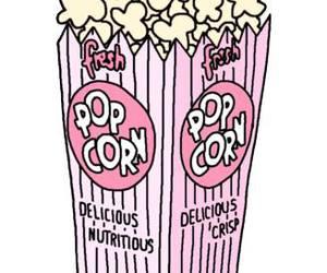 pink, popcorn, and wallpaper image