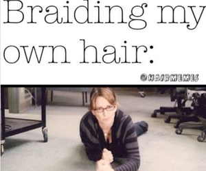braiding, funny, and lol image