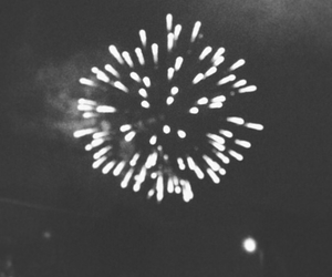 b&w, black and white, and fireworks image