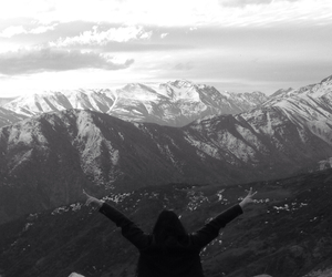 black and white, peace, and peak image