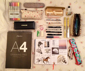 school, stuff, and cute image
